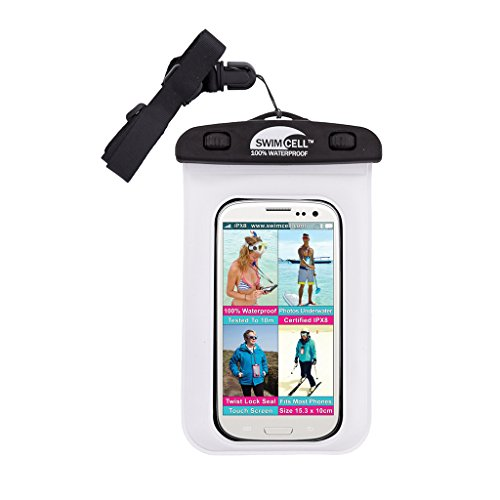 #1 Waterproof Phone Case For iPhone and standard size Android phones. SwimCell. Tested to 10m. Easy to Use. Fits Phones Measuring 4