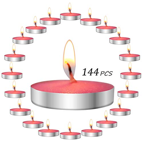 (YUCH Scented Tealight Candles, Chocolate, Pack of 144)