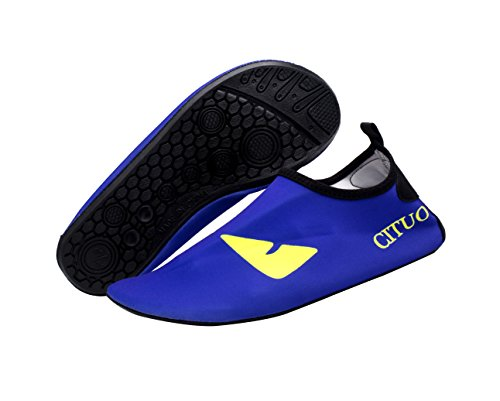 Giotto Kids Swim Water Shoes Quick Dry Non-Slip For Boys & Girls K-blue gL4Tk5Q
