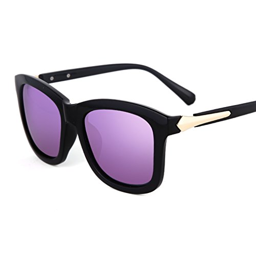 Cadre Protection Soleil Femmes YaNanHome Lunettes de Tide Lunettes Fashion Blue Grand Retro Soleil Color de Polarisées Purple Lunettes UV de AZnA7q