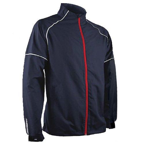 Sun Mountain Mens Headwind Full Zip Jacket Navy/White XL ()