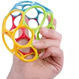 walaiji Baby Soft Toy Ball, Multicolored Hand Catch Shaker Teether for 12+ M