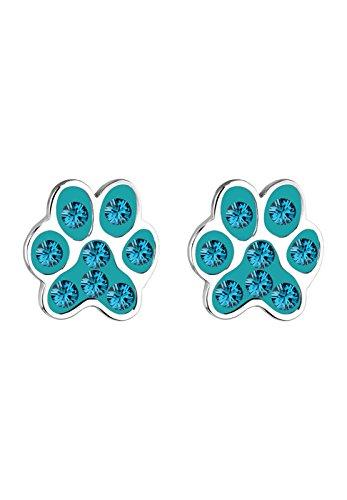 Elli Women's 925 Sterling Silver Xilion Cut Ear Paw Animal Pet Stud Earrings pcQgNAM5