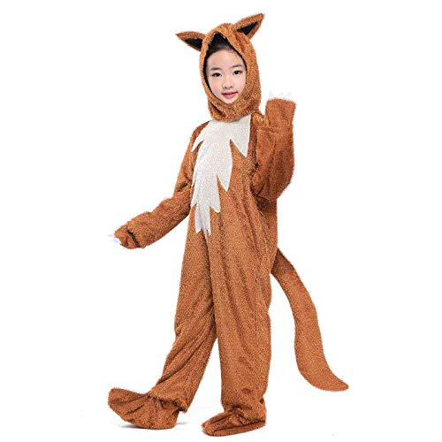 Wraith of East Kids Animals Costume Sly Fox Cosplay Halloween Childen Party Fancy Dress L -