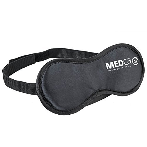 MEDca Eye Mask with Earplugs Soft and Light Black Adjustable Elastic Strap Men Women and Kids Ideal for Any Size Great for Travelers and Troubled Sleepers for Peaceful Sleep Relieves Insomnia (Bands That Sound Like Fall Out Boy)