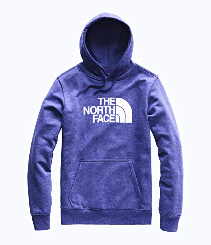 The North Face Men's Half Dome Pullover Hoodie Aztec Blue Heather/TNF White Medium