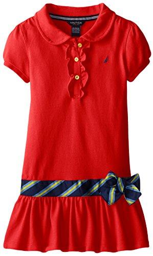 Nautica Girls Pique Dress Buttons