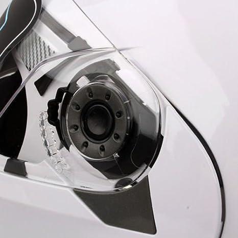 Obiettivo Dual Flip Up Casco anteriore della moto XXL Nero Brillante
