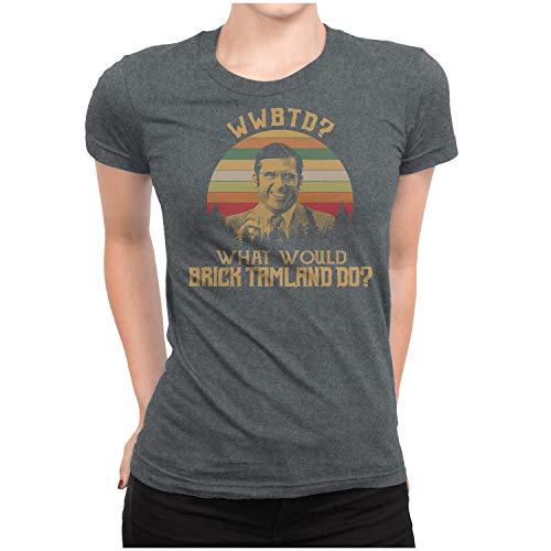 WWBTD What Would Brick Tamland DO - Vintage Retro T-Shirt Womens/Dark Heather/ 3XL]()