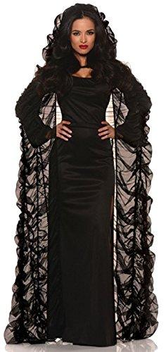 Adult Coffin Cape Black Costume