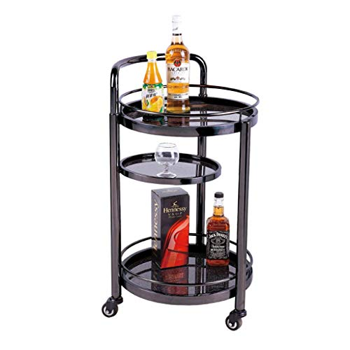 (QIANDING ZWJIA Rack - Hotel Restaurant Delivery Car Double Wine Cart Tea Truck Truck Snack Car Cake Car Mobile Trolley Bookshelf (Color : C, Size : 42x42x81cm))