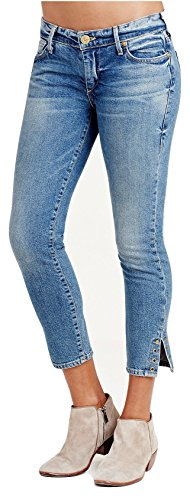 True Religion Women's Casey Super Skinny Rivet Crop Jeans in Gypset Blue (26, Gypset Blue)