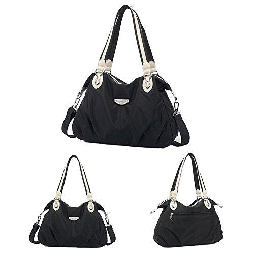 Lightweight Black Bag Waterproof Hobo 261104a Medium Fouvor Nylon Shoulder Crossbody Bag ztZt7wqT