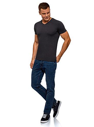 T Scollo Basic Oodji Senza Etichetta A Blu Ultra shirt 7901n Con Uomo V EnwwxqfBY