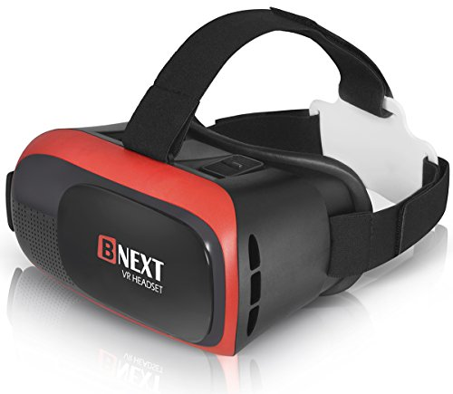 3D VR Headset Virtual Reality Glasses for iPhone & Android Phones | 2018 Improved VR Viewer Compatible with a Huge List of Smartphones | New Goggles for Games & Videos | Better Lenses, Less Eye Stress by BNEXT