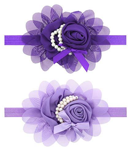 LD DRESS Lovely Rhinestone Unusual Angel Girls Baby Pearl Flowers Hairband Headbands (A) -