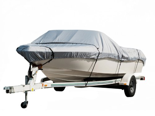 Komo Heavy Duty Trailerable Boat Cover, 14-16-Feet, Silver