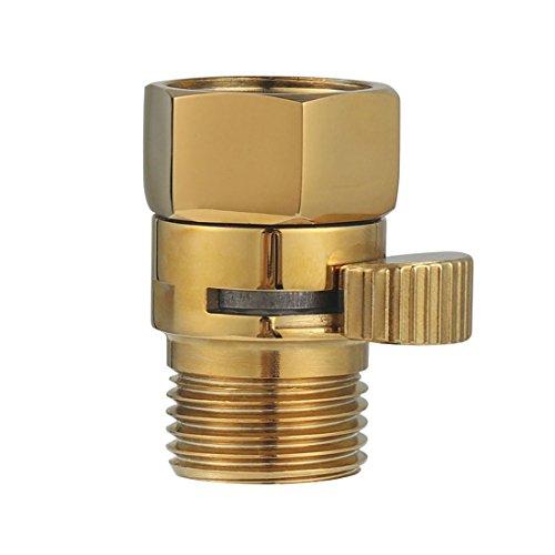 Brass Shut Off Valve Shower Flow Control Valve G 1/2 for Hand Shower, Shower Head, and Bidet Sprayer