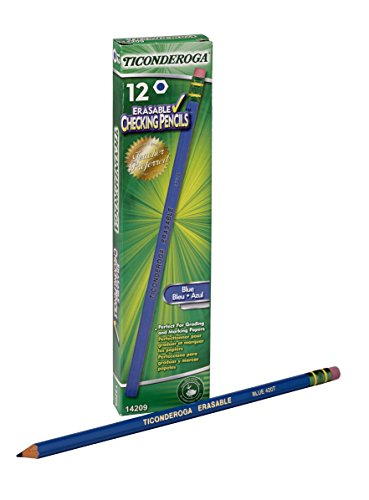 Dixon Ticonderoga Erasable Checking Pencils, Eraser Tipped,