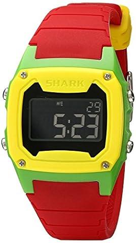 Freestyle Unisex 101807 Shark Classic Digital Yellow Green Case Watch (Freestyle Shark Green Watch)