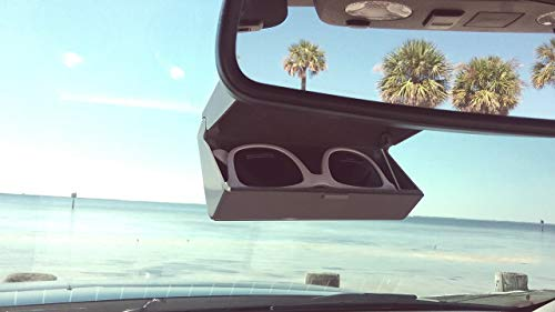 Chums Glasshopper Sunglass /& Eyeglass Car Sun Visor Shade Clip Glasses Holder 2pk Bundle Black Cloth