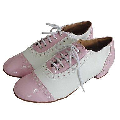 Schuhe Swing Damen White Maßfertigung Leder Lackleder Niedriger Heel w6qnpx4Z