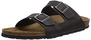 Birkenstock Women's Arizona Birko-Flo Anthracite Microfiber Sandals - 37 M EU / 6-6.5 2A(N) US