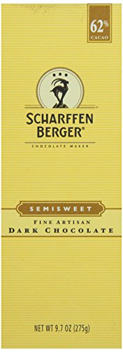 SCHARFFEN BERGER 62% Cacao Baking Bar, Semisweet Dark Chocolate, 9.7 Ounce
