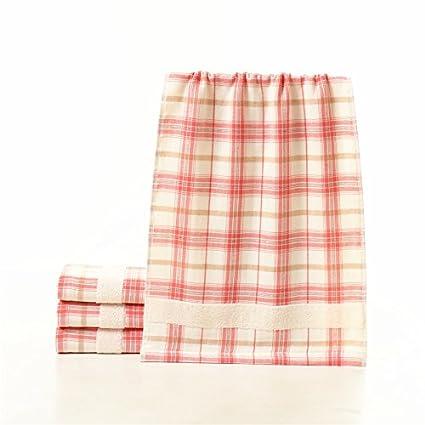mmynl Pure algodón toalla de hilo rejilla lavar las toallas de mano de toallas de cara