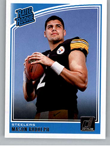 2018 Donruss Football #305 Mason Rudolph RC Rookie Card Pittsburgh Steelers Rated Rookie Official NFL Trading Card