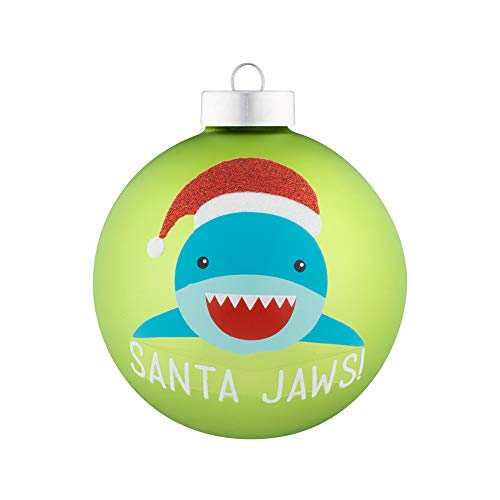 (kat + annie Santa Jaws Ornament, Green)