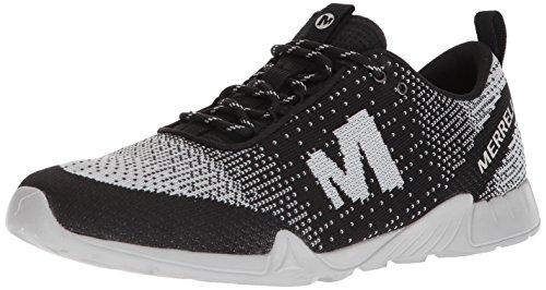 Merrell Mens Versent Kavari Lace Knit Sneaker Nero / Bianco