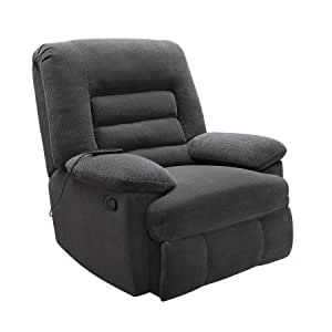 serta big & tall memory foam massage recliner