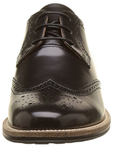 de Schmoove Nero Newton Negro Perfo Brogue para Mujer Cordones Zapatos CaFUatHnq