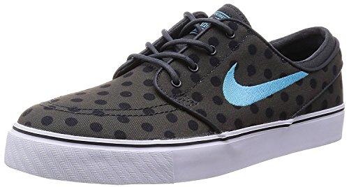 Nike Mens Stefan Janoski Canvas Skate Shoe, Gris oscuro/blanco/marr?n claro- met?lico (Dark Grey/White/Gym Light Brown-metallic), 38.5 D(M) EU/5.5 D(M) UK