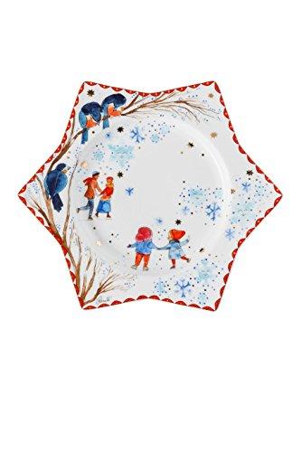 Hutschenreuther 02473-727300-10802 Star Plate Decorated