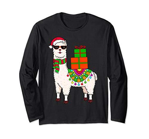 Llama Xmas Sweater Alpaca Christmas Hat Scarf Ornament Gifts