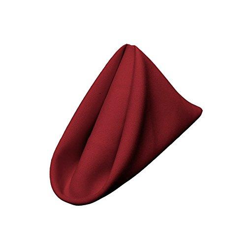 LA Linen 10-Pack Polyester Poplin Napkins 17 by 17-Inch, Cranberry