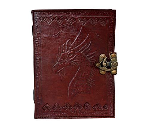 Diario de piel con diseño de dragón de Juego de Tronos en relieve, manual, diario hecho a mano, organizador de citas,...