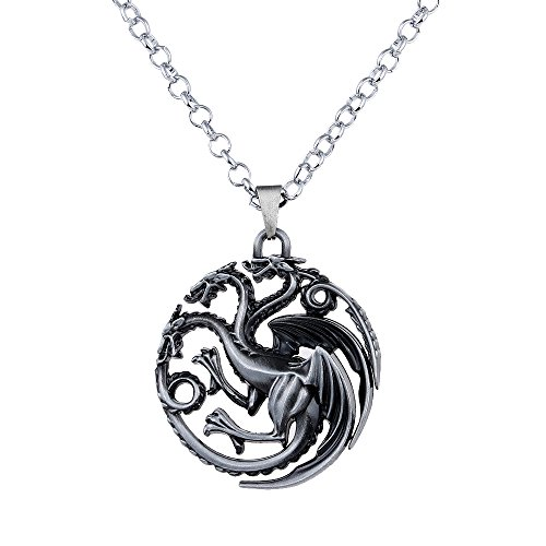 Game Inspired Halloween Costumes (Lureme Game of Thrones Inspired Targaryen Pendant Costume Necklace-Antique Silver (nl005382-2))