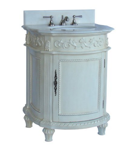 26″ Traditional elegance Catalina bathroom sinks vanity Model CF-4408W-AW For Sale