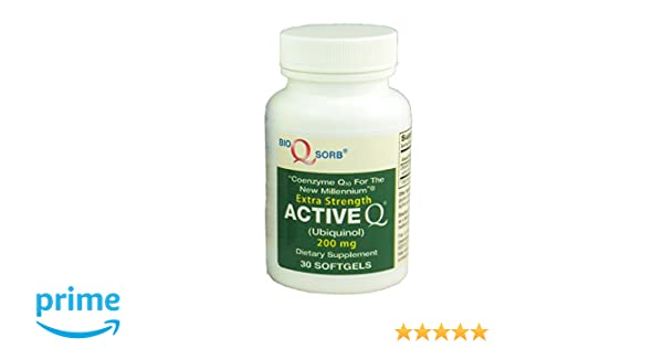 "Amazon.com: 200mg ActiveQ® (30 Softgels) uses Kaneka Ubiquinol CoQ10 the ""active"" antioxidant form of Coenzyme Q10: Health & Personal Care"