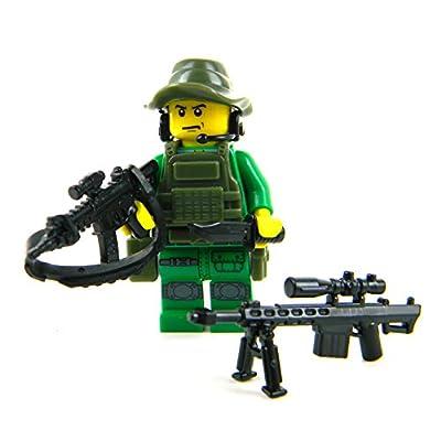 Battle Brick Special Forces Sniper (SKU48) Custom Minifigure: Toys & Games