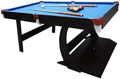 Billar americano ligero y soporte plegable con accesorios – tapete azul: Amazon.es: Deportes y aire libre