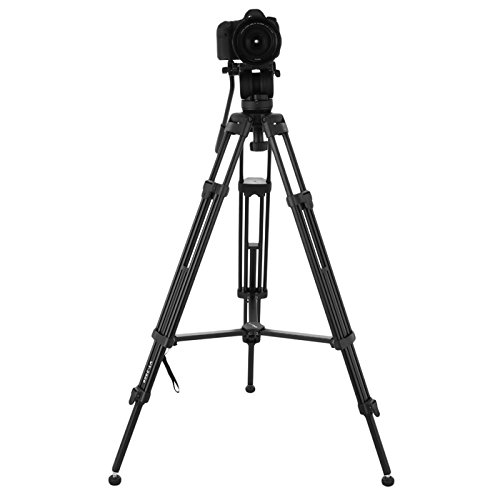Domtie Professional Camera Tripod 360 Degree Removable Fluid Head Video Tripod Stand with Carrying Bag by Domtie