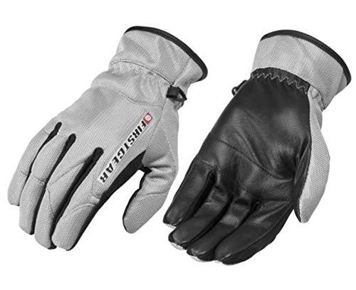 Firstgear Street Bike - FirstGear Ultra Mesh Women's Vented Textile/Leather Street Bike Motorcycle Gloves - Silver/Small