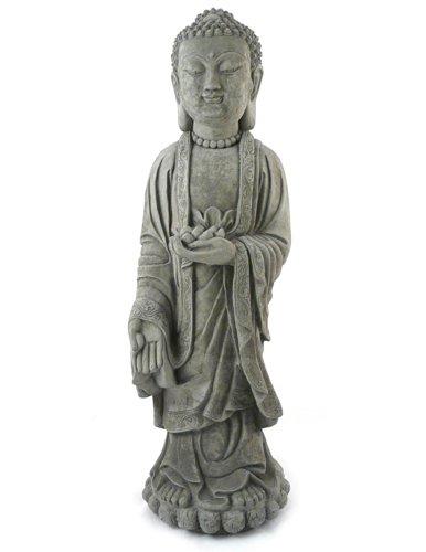 Cheap Modern Artisans Standing Shakyamuni Buddha – 24″ Tall Cast Stone Garden Statue, American Made
