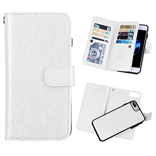iPhone 7 Plus(5.5'') Wallet Case,iPhone 8 Plus Wallet Case PU Leather Folio Flip 9 Credit Card Slots Cash Holder Magnetic Vintage Book Style Case for iPhone 7plus -