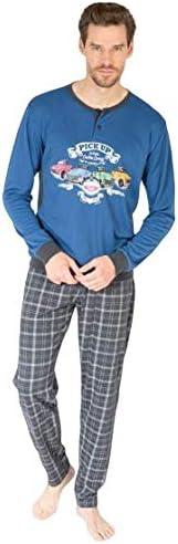 MASSANA Pijama Hombre Invierno Azul Coches. 50% Algodón 50% Poliéster. (XXL): Amazon.es: Ropa y accesorios