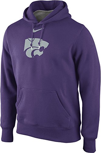 NIKE Kansas State Wildcats Satin Logo Classic Pullover Hoodie (XL, Purple)